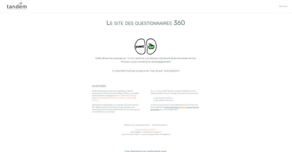 site tandem360 A propos